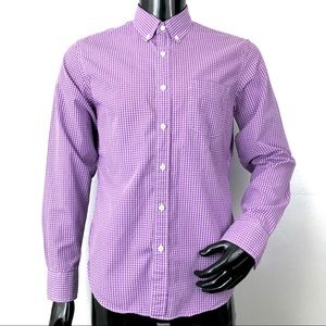 J Crew men's purple plaid shirt